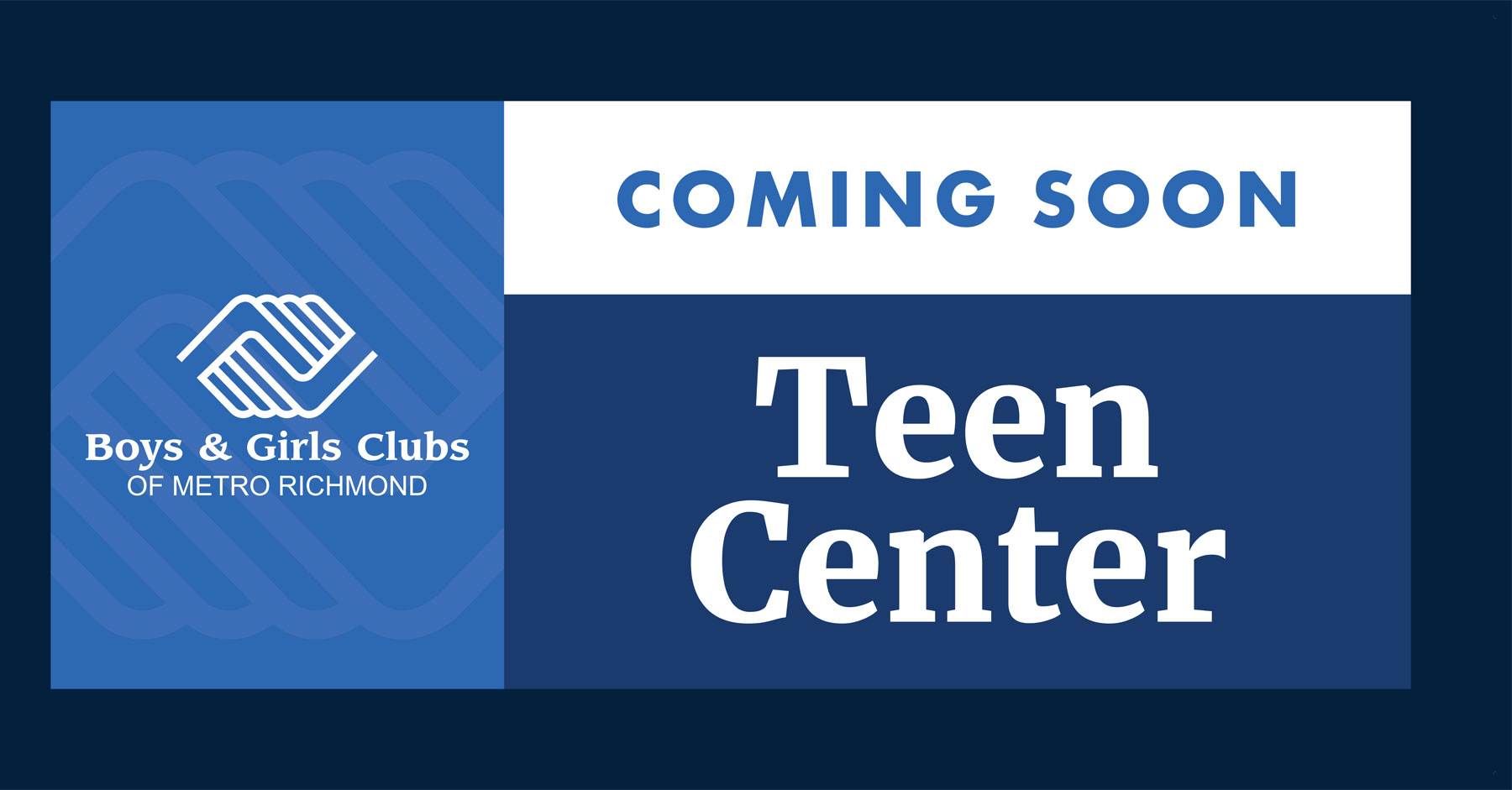 Boys and Girls Club Coming Soon Sign
