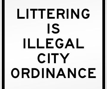 Littering Is Illegal City Ordinance